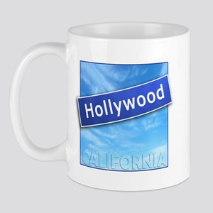 Hollywood Street Sign Mug