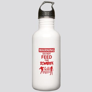 Warning do not feed the zombies Stainless Water Bo