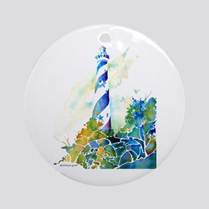 Cape Hatteras Lighthouse Ornament (Round)