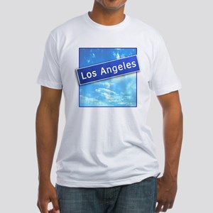 LA Street Sign Fitted T-Shirt
