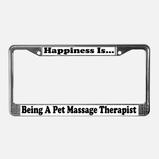 Pet Massage Therapist wht License Plate Frame