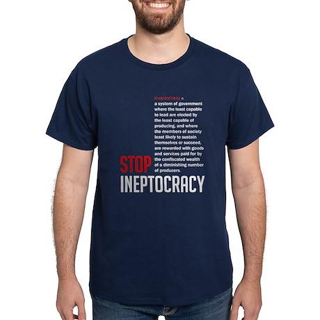 Stop Ineptocracy Dark T-Shirt