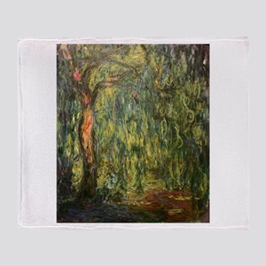 Claude Monet Weeping Willow Throw Blanket