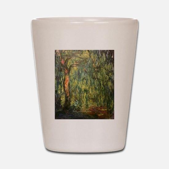 Claude Monet Weeping Willow Shot Glass