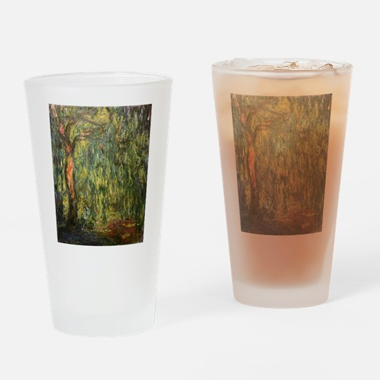 Claude Monet Weeping Willow Drinking Glass