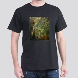 Claude Monet Weeping Willow Dark T-Shirt