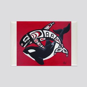 Spirit of the Orca Rectangle Magnet