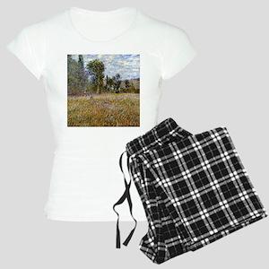 Monet Meadow (Detail) Women's Light Pajamas