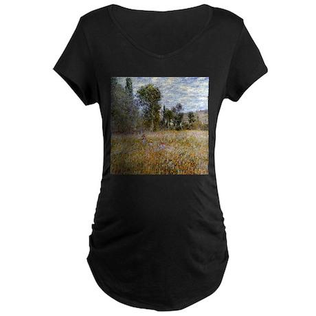 Monet Meadow (Detail) Maternity Dark T-Shirt