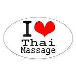 I love Thai Massage Sticker (Oval)