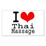 I love Thai Massage Sticker (Rectangle)