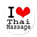 I love Thai Massage Round Car Magnet