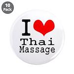 """I love Thai Massage 3.5"""" Button (10 pack)"""
