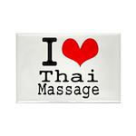 I love Thai Massage Rectangle Magnet (10 pack)