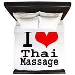 I love Thai Massage King Duvet