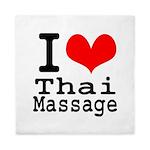I love Thai Massage Queen Duvet