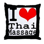 I love Thai Massage Throw Pillow