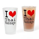 I love Thai Massage Drinking Glass