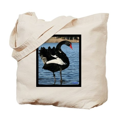 Moment with a Black Swan Tote Bag
