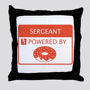 Sergeant Powered by Doughnuts Throw Pillow