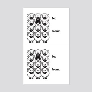 Black Border Collie Gift Tag Stickers