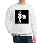HyperSports Weight Lifter White Sweatshirt