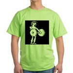 HyperSports Weight Lifter White Green T-Shirt