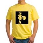 HyperSports Weight Lifter White Yellow T-Shirt