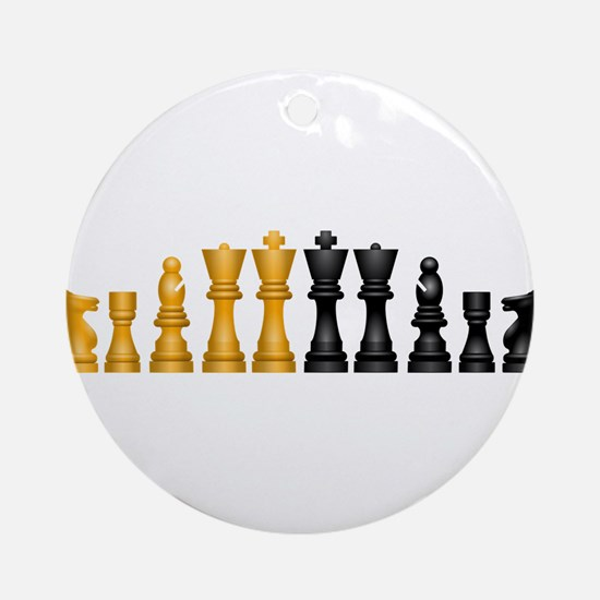 Family of Chess Ornament (Round)