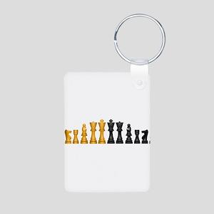 Family of Chess Aluminum Photo Keychain