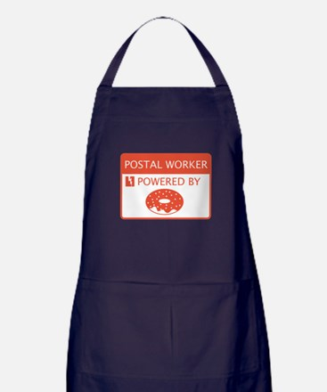 Postal Worker Powered by Doughnuts Apron (dark)