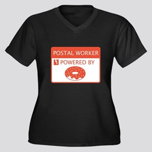 Postal Worker Powered by Doughnuts Women's Plus Si