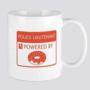 Police Lieutenant Powered by Doughnuts Mug