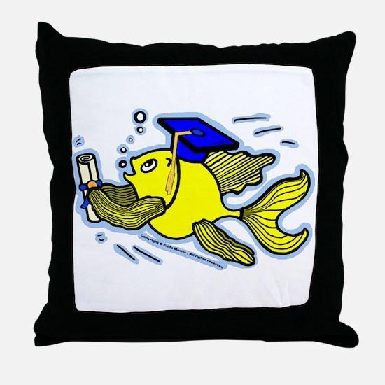 Graduation Fish Graduate Throw Pillow