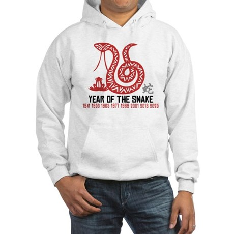 Chinese Paper Cut Year of The Snake Hooded Sweatsh
