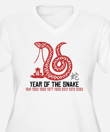 Chinese Paper Cut Year of The Snake T-Shirt