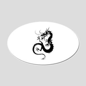 Dragon 22x14 Oval Wall Peel