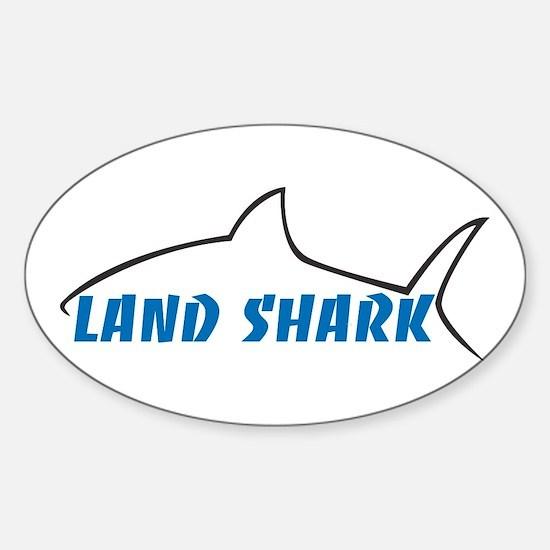 Land Shark Sticker (Oval)