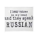 I hear voices Throw Blanket