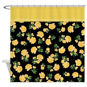 Yellow roses shower curtains cafepress mightylinksfo