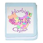 Harbin China Map baby blanket