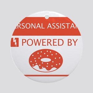 Personal Assistant Powered by Doughnuts Ornament (