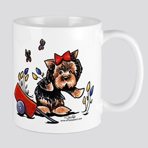 Yorkie Gardener Mug