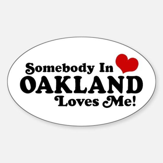 Oakland Sticker (Oval)