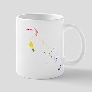 Bahamas Rainbow Pride Flag And Map Mug