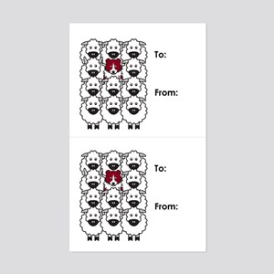 Red Border Collie Gift Tag Stickers
