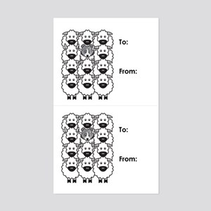 Blue Merle Border Collie Gift Tag Stickers