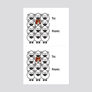 Red Merle Border Collie Gift Tag Stickers