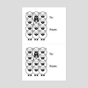 Tri-Color Border Collie Gift Tag Stickers