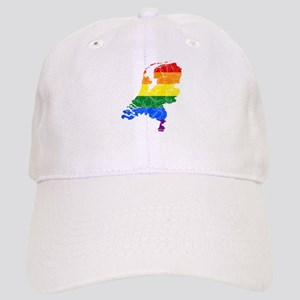 Netherlands Rainbow Pride Flag And Map Cap